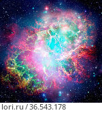 Colorful space nebula with stars. Elements of this image furnished... Стоковое фото, фотограф Zoonar.com/Irina Dmitrienko / easy Fotostock / Фотобанк Лори