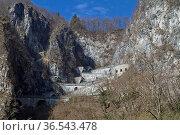 Passo San Boldo ist ein kleiner Alpenpass in der italienischen Region... Стоковое фото, фотограф Zoonar.com/Eder Christa / easy Fotostock / Фотобанк Лори