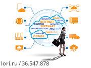 Cloud computing in technology concept. Стоковое фото, фотограф Elnur / Фотобанк Лори