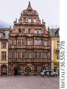 Гейдельберг, Германия. Дом рыцаря Дом (Haus Zum Ritter), 1592 г. (2017 год). Редакционное фото, фотограф Rokhin Valery / Фотобанк Лори