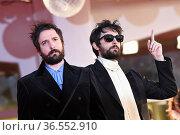 Directors Damiano D'Innocenzo, Fabio D'Innocenzo during the 78th ... Редакционное фото, фотограф Antonelli / AGF/Maria Laura Antonelli / age Fotostock / Фотобанк Лори