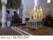 Arezzo Tuscany Italy. The altar of Santa Maria della Pieve church. Стоковое фото, фотограф Marco Brivio / age Fotostock / Фотобанк Лори