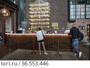 Vasteras, Sweden The receptin of the landmark Steam Hotel. Редакционное фото, фотограф A. Farnsworth / age Fotostock / Фотобанк Лори