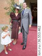 Ines Martin Alcalde, David Jimenez attends Lucia Martin Alcalde and... Редакционное фото, фотограф ©MANUEL CEDRON / age Fotostock / Фотобанк Лори