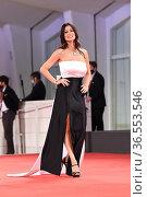 Manuela Arcuri during the Red carpet at the 78th Venice Film Festival... Редакционное фото, фотограф Maria Laura Antonelli / AGF/Maria Laura Antonelli / age Fotostock / Фотобанк Лори