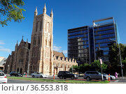 St Francis Xaviers Cathedral in Adelaide, South Australia, Australien... Стоковое фото, фотограф Zoonar.com/Dirk Rueter / age Fotostock / Фотобанк Лори