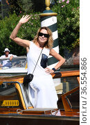 Stefania Rocca arrives at the Darsena of Hotel Excelsior for the ... Редакционное фото, фотограф Maria Laura Antonelli / AGF/Maria Laura Antonelli / age Fotostock / Фотобанк Лори