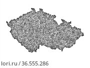 Karte von Tschechien auf Mohn - Map of Czech Republic on poppy seeds. Стоковое фото, фотограф Zoonar.com/lantapix, / easy Fotostock / Фотобанк Лори