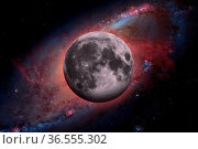 Solar System - Earths Moon. The Moon is Earth's only natural satellite... Стоковое фото, фотограф Zoonar.com/Irina Dmitrienko / easy Fotostock / Фотобанк Лори