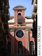 Church in Malaga, Andalusia,Spain. Стоковое фото, фотограф Frederic Soreau / age Fotostock / Фотобанк Лори