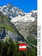 TMR Bushaltestelle Les Granges vor dem Gipfel Tour Noir, Val Ferret... Стоковое фото, фотограф Zoonar.com/Georg / age Fotostock / Фотобанк Лори