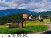 Bruneck in Südtirol, die Burg Lamprechtsburg - Bruneck in alto Adige... Стоковое фото, фотограф Zoonar.com/Liane Matrisch / easy Fotostock / Фотобанк Лори
