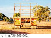 Mt Surprise, Australia - July 5, 2016: An iconic 3 trailer Australian... Стоковое фото, фотограф Zoonar.com/Chris Putnam / easy Fotostock / Фотобанк Лори