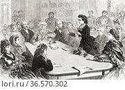 In January 1871, Victoria Claflin Woodhull, 1838 - 1927, a delegate... Редакционное фото, фотограф Classic Vision / age Fotostock / Фотобанк Лори