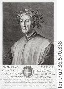 Durante degli Alighieri, aka Dante Alighieri or simply Dante, 1265... Редакционное фото, фотограф Classic Vision / age Fotostock / Фотобанк Лори