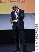 Paolo Sorrentino during closing Ceremony - 78th Venice International... Редакционное фото, фотограф Bildbyran via ZUMA Press/Maria Laura Antonelli / age Fotostock / Фотобанк Лори