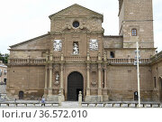 Calahorra, Cathedral of Santa Maria (17th century). Facade baroque... Стоковое фото, фотограф J M Barres / age Fotostock / Фотобанк Лори