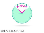 Concept of deadline in the time management. Стоковое фото, фотограф Zoonar.com/Elnur Amikishiyev / easy Fotostock / Фотобанк Лори