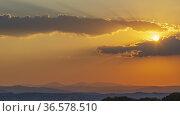 Typical Tuscan landscape near Montepulciano and Monticchielo, Italy. Стоковое фото, фотограф Richard Semik / easy Fotostock / Фотобанк Лори