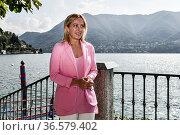 Leader of Fratelli D'Italia party Giorgia Meloni during the Ambrosetti... Редакционное фото, фотограф Nicola Marfisi / AGF/Nicola Marfisi / AGF / age Fotostock / Фотобанк Лори