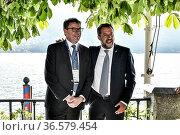 Gianfranco Giorgetti, Leader of Lega party Matteo Salvini during ... Редакционное фото, фотограф Nicola Marfisi / AGF/Nicola Marfisi / AGF / age Fotostock / Фотобанк Лори