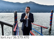 Leader of Lega party Matteo Salvini during the Ambrosetti Forum '... Редакционное фото, фотограф Nicola Marfisi / AGF/Nicola Marfisi / AGF / age Fotostock / Фотобанк Лори