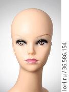 Closeup of a female mannequin head. Стоковое фото, фотограф Zoonar.com/Csaba Deli / easy Fotostock / Фотобанк Лори