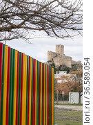 Castle of Almansa. Almansa. Albacete. The castle of Almansa is located... Стоковое фото, фотограф Antonio Real / age Fotostock / Фотобанк Лори