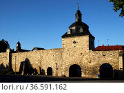 Inneres Frauentor in Mühlhausen (Thüringen) Стоковое фото, фотограф Zoonar.com/Martina Berg / easy Fotostock / Фотобанк Лори