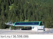 Malbunexpress, Malbun, Liechtenstein. Стоковое фото, фотограф Zoonar.com/Günter Lenz / age Fotostock / Фотобанк Лори