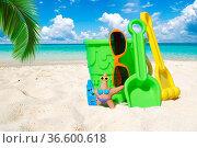 Spiel und Spass am Strand. Стоковое фото, фотограф Zoonar.com/Thomas Klee / easy Fotostock / Фотобанк Лори