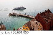 Anleger für die Bodenseeschifffahrt in Meersburg. Стоковое фото, фотограф Zoonar.com/Karl Heinz Spremberg / age Fotostock / Фотобанк Лори