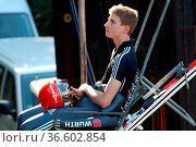 Karl Geiger (SC Oberstdorf) - Teamwettkampf - FIS Sommer Grand Prix. Стоковое фото, фотограф Zoonar.com/Joachim Hahne / age Fotostock / Фотобанк Лори