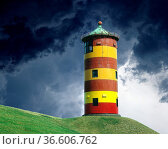 Leuchtturm, Pilsum, Стоковое фото, фотограф Zoonar.com/Manfred Ruckszio / age Fotostock / Фотобанк Лори