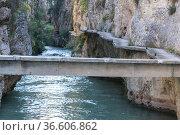 Almadenes Canyon. The Mines. Albacete, Spain, Europe. Стоковое фото, фотограф Antonio Real / age Fotostock / Фотобанк Лори