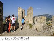 Castle of Frías, Autonomous Community of Castilla y León, Spain. Редакционное фото, фотограф Tolo Balaguer / age Fotostock / Фотобанк Лори