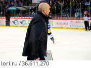Trainer Helmut de Raaf(Schwenningen) verlässt enttäuscht das Eis - ... Стоковое фото, фотограф Zoonar.com/Joachim Hahne / age Fotostock / Фотобанк Лори