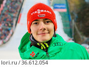 David Siegel (SV Baiersbronn, lachend / laechelnd / gut gelaunt / ... Стоковое фото, фотограф Zoonar.com/Joachim Hahne / age Fotostock / Фотобанк Лори