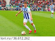 Dennis Kempe (Karlsruhe) , mit Ball, Fussball: 2. BL 15-16: 10. Sptg... Стоковое фото, фотограф Zoonar.com/Joachim Hahne / age Fotostock / Фотобанк Лори