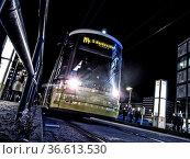 Berliner Strassenbahn am Alexanderplatz, Berlin, Deutschland. Стоковое фото, фотограф Zoonar.com/Karl Heinz Spremberg / age Fotostock / Фотобанк Лори