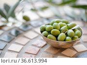 Frisch vom Baum geerntete Oliven in Italien. Стоковое фото, фотограф Zoonar.com/Nailia Schwarz / easy Fotostock / Фотобанк Лори