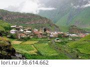Village in the Caucasus Mountains, Georgia, Europe. Стоковое фото, фотограф Zoonar.com/Alexander Ludwig / easy Fotostock / Фотобанк Лори
