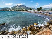 View of the coast of Adriatic sea. Стоковое фото, фотограф Юлия Белоусова / Фотобанк Лори