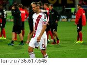 Schnell in die Kabine: Jan Polak (Nuernberg) - 2. Bundesliga: 1. ... Стоковое фото, фотограф Zoonar.com/Joachim Hahne / age Fotostock / Фотобанк Лори