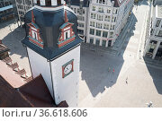 Turm des Alten Rathauses in Chemnitz aus der Renaissance-Zeit (1498... Стоковое фото, фотограф Zoonar.com/C3455 Robert B. Fishman / age Fotostock / Фотобанк Лори