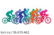Gruppe von Radfahrer im Fahrradrennen. Стоковое фото, фотограф Zoonar.com/scusi / age Fotostock / Фотобанк Лори