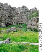 Side, türkei, türkische riviera, antik, antike, historisch, ruine... Стоковое фото, фотограф Zoonar.com/Volker Rauch / easy Fotostock / Фотобанк Лори