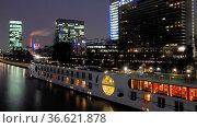 Frankfurt, abends, abend, hochhaus, main, hochhäuser, city, abendstimmung... Стоковое фото, фотограф Zoonar.com/Volker Rauch / easy Fotostock / Фотобанк Лори