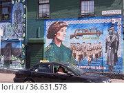 Katholisch-republikanisches Wandbild an der Falls Road erinnert an... Стоковое фото, фотограф Zoonar.com/Robert B. Fishman / age Fotostock / Фотобанк Лори