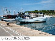 Hafen , Vrsar, Kroatien, istrien, boot, boote, schiff, schiffe, fischerboot... Стоковое фото, фотограф Zoonar.com/Volker Rauch / easy Fotostock / Фотобанк Лори